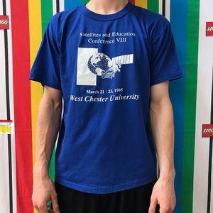 VTG Westchester University 1995 T shirt Large